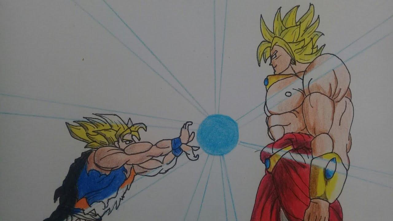 Goku Vs Broly Para Colorear