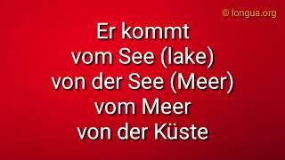 Deutsch lernen, Learn German: A1, A2, B1 kommen, stammen - von, aus, from