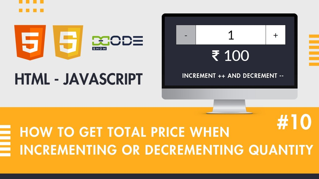 How To Increment And Decrement Counter on Button Click in JavaScript