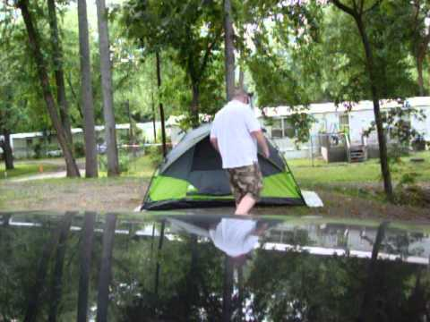 & Ozark 4 person Instant Tent - YouTube