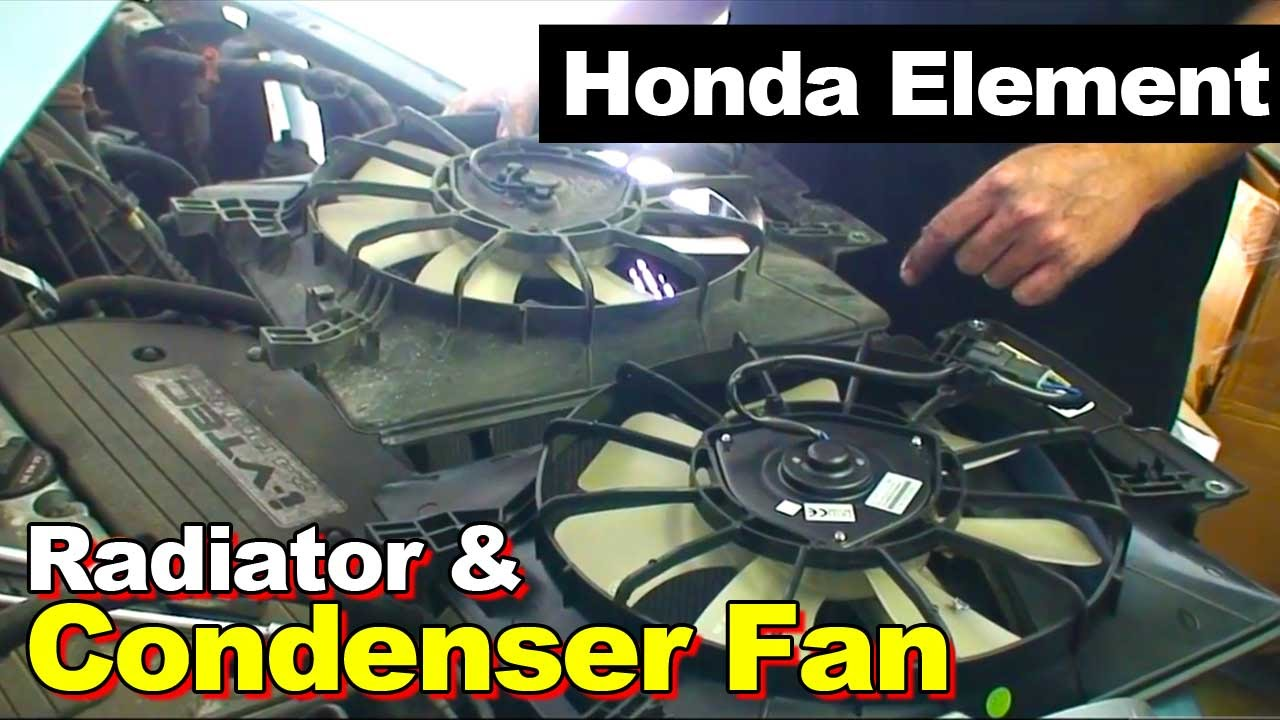 hight resolution of 2003 2011 honda element radiator and condenser cooling fan 1997 honda cr v engine diagram