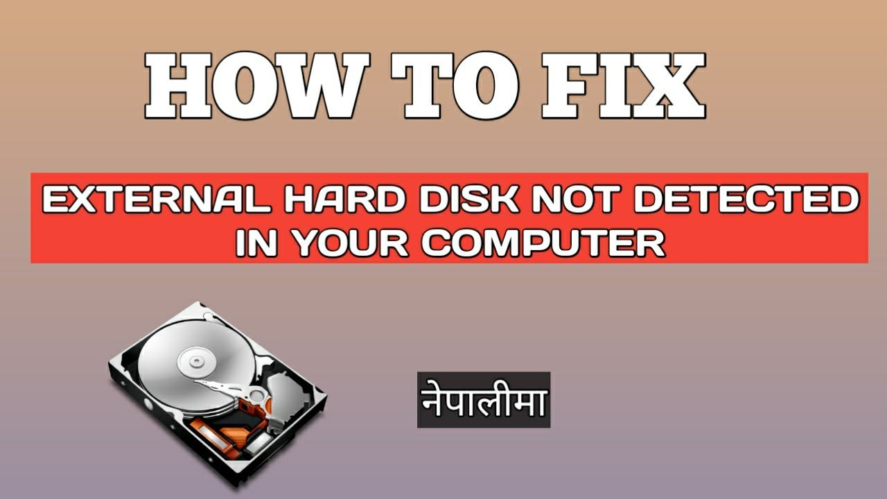 How To Fix External Hard Disk Not Detected | External Hard Drive Not Showing Up |