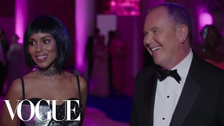 Kerry Washington and Michael Kors on Her Sexy Cutout Dress | Met Gala 2017
