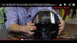 HJC IS Max BT Snowmobile Helmet Review at MxMegastore