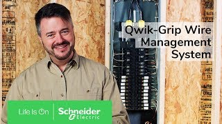 plug on neutral load centers with qwik grip wire management system