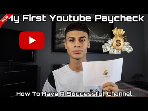 MY FIRST YOUTUBE PAYCHECK + HOW TO MAKE MONEY ON YOUTUBE