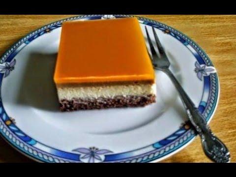 gâteau-froid-au-caramel-et-à-l'orange-طورطة-باردة-بالكراميل-والبرتقال