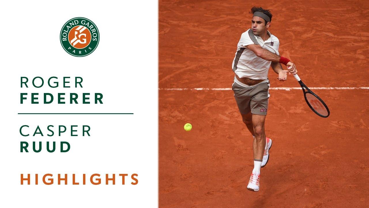 Roger Federer Vs Casper Ruud Round 3 Highlights Roland Garros 2019 Youtube