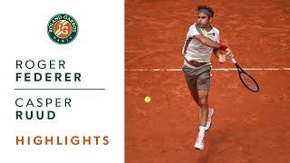 Roger Federer vs Casper Ruud - Round 3 Highlights