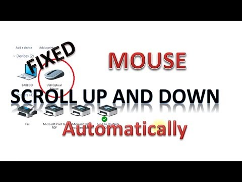 Mouse automatically scrolls