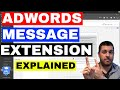 Adwords Message Extension Tutorial (Explained) Get Text Message Leads FAST