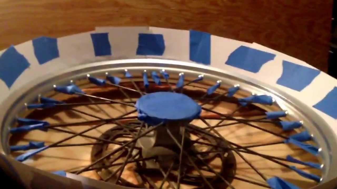 Spray Paint Dirt Bike Rims