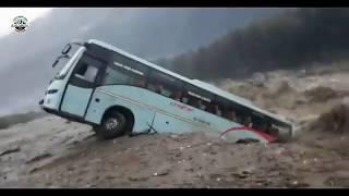 Live Flood-Footage Kullu-Manali | Volvo Bus Washed-away | 23 September 2018 |
