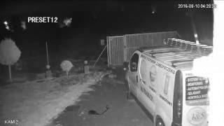 Kamera obrotowa HDCVI z podczerwienią w nocy.