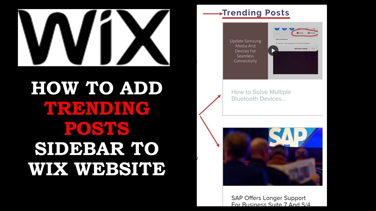 Adding Blog Posts Sidebar To Your Wix Website Showing The Trending Or Featured Posts