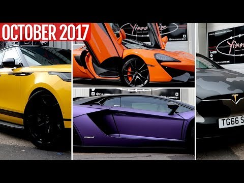 All Wrapped Up October 2017 inc. Aventador S, Model X, 570S +more