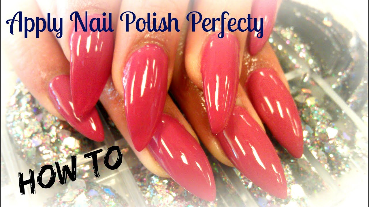 HOW TO APPLY NAIL POLISH PERFECTLY - YouTube