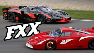 Car porn - screaming V12 Ferrari FXX's EVO