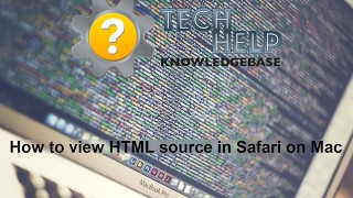 How to view HTML source in Safari on Mac