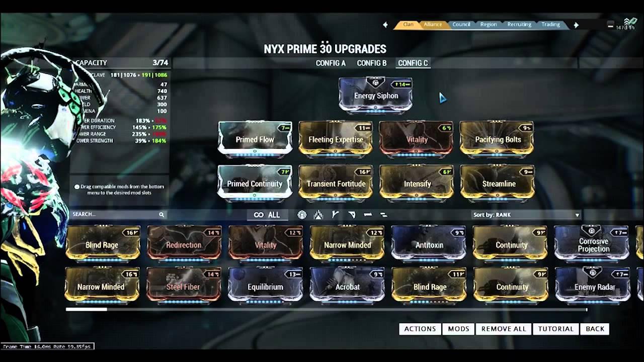 Warframe Nyx Build