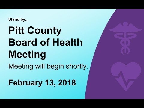Pitt County Board of Health Meeting for 2/13/2018