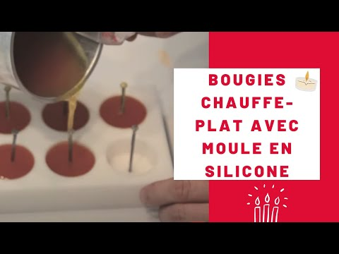 moule silicone pour bougies chauffe plat youtube. Black Bedroom Furniture Sets. Home Design Ideas