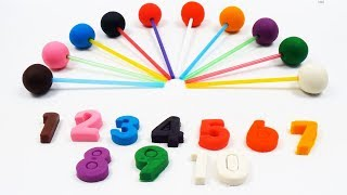 Learn Numbers with Play Doh Lollipop Fun Colors for Kids Tic Tac Play