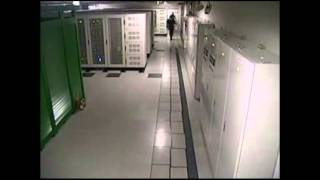 Server room with seismic isolation floor in East Japan Great Earthquake disaster (March 11, 2011)