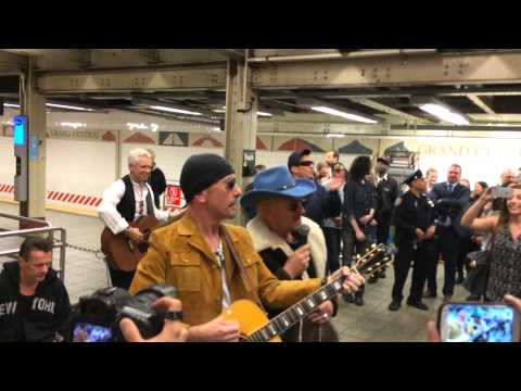 U2 Surprise Performance at Grand Central with Jimmy Fallon