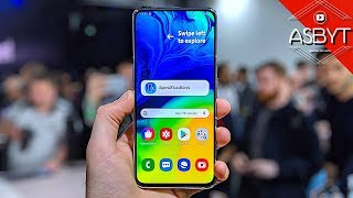Samsung Galaxy A80 Hands On Review - Bezel-less ROTATING Camera King!