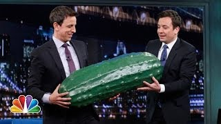 Seth Meyers Gets The Late Night Pickle Late Night With Jimmy Fallon