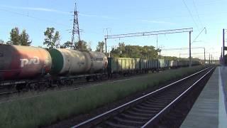 Электровоз ВЛ80С-2203 и тепловоз ЧМЭ3Т-6998 с грузовым поездом