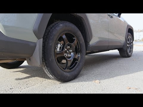 Toyota RAV4 (2019-2020): How To Replace The Flat Tire With A Spare Using Stock Jack.