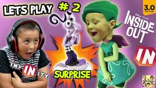 Lets Play DISNEY INFINITY 3.0 INSIDE OUT #2: FEAR SURPRISE!! Brain Power 1 & 2 w/ FGTEEV Dad & Kids