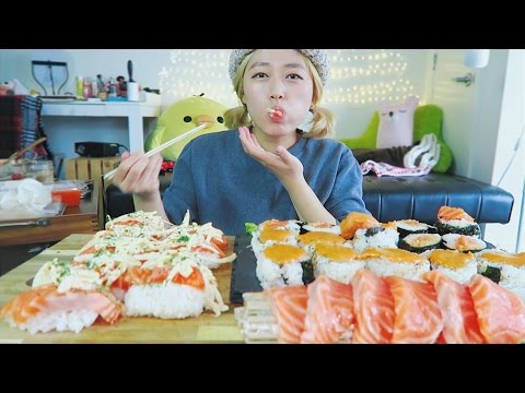 BigMac Sauce Ep #1 | SALMON SUSHI SUSHI Cooking Mukbang