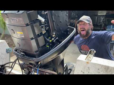 Installing a New Throttle Cable to Control Box on Mercury Outboard 115hp 2 Stroke Engine