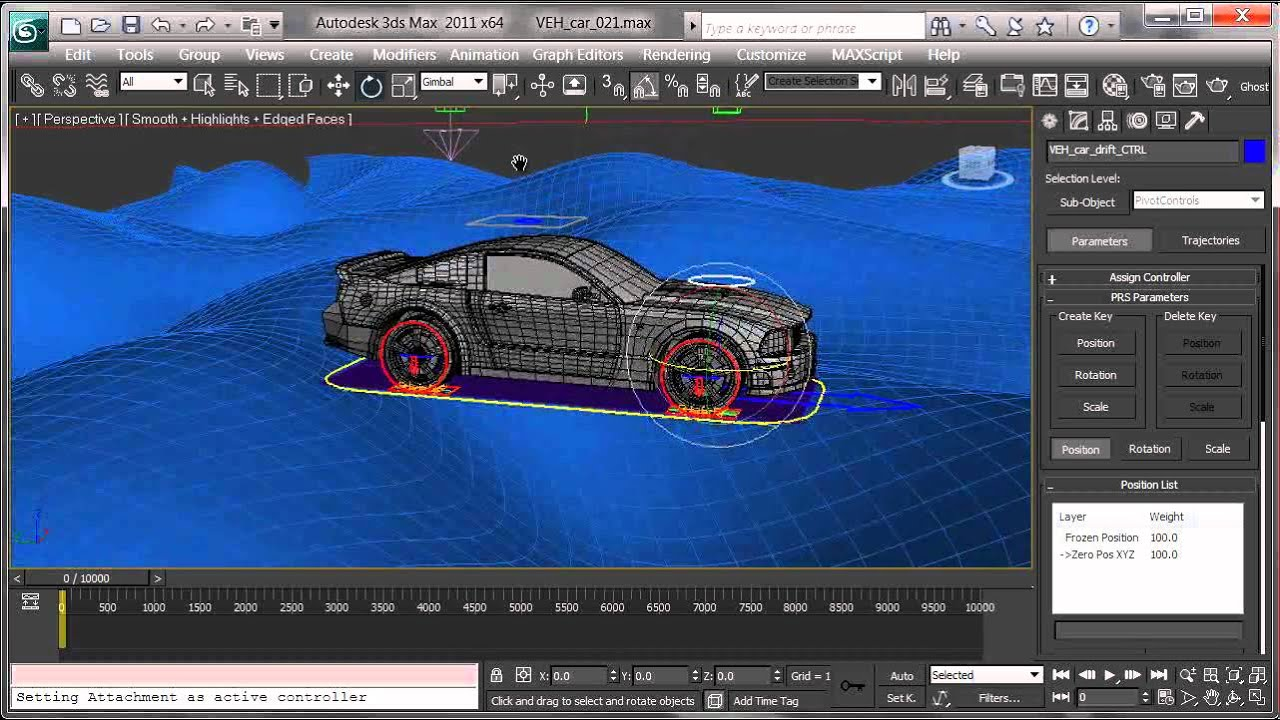 Advanced Vehicle Rigging in 3dsmax 26 Finalizing the car to the ground xvid