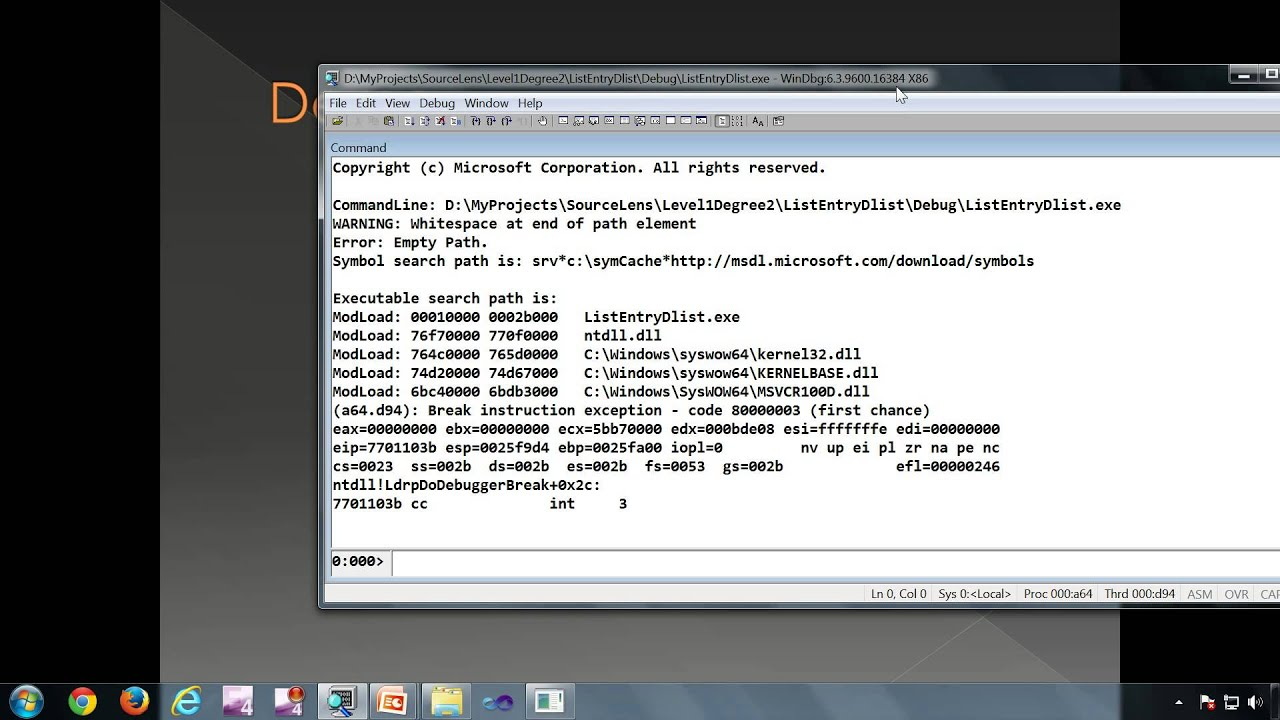 Introduction To Windbg Series 1 Part 5 Introduction To Debugger