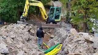 Трасса наружной канализации. По шведски. Ссылка /обзор  готового дома