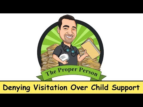 High Conflict Child Custody: Denying Visitation Over Child Support