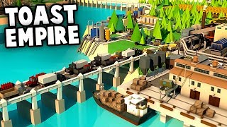 NEW Toast EMPIRE!  Building our New Kingdom! (Rise of Industry Gameplay - Modern Toast Kingdom)