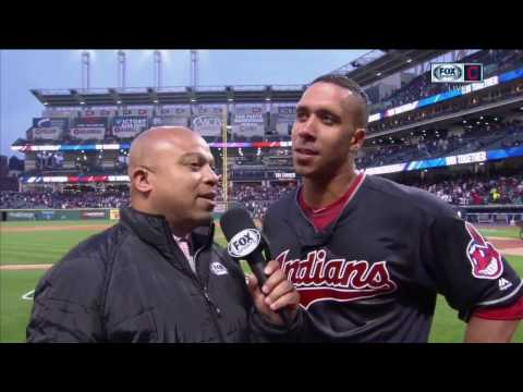 An emotional Michael Brantley discusses his walk-off for Cleveland Indians in home opener