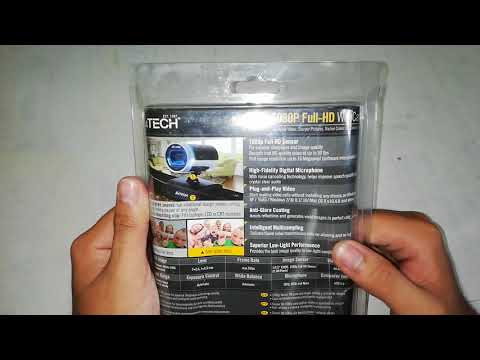A4Tech PK-910H 1080P FULL HD WEBCAM Unboxing and Review