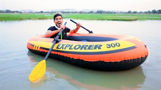 Unboxing Air Inflatable Boat- Explorer 300 | हवा भरो और पानी में तैरो |