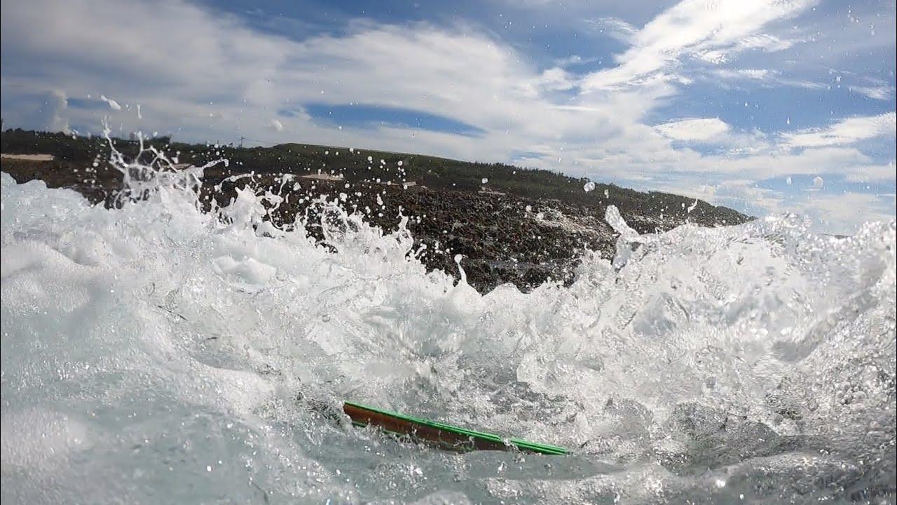 激しい波に飲みこまれる瞬間がヤバすぎる。死ぬかと思った。。