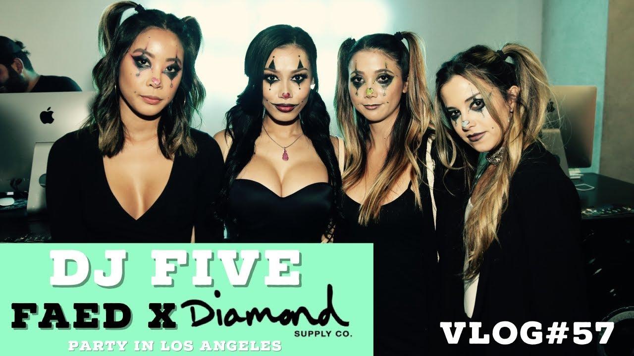 DIAMOND SUPPLY CO X FAED HALLOWEEN PARTY IN LA! (VLOG #57) - YouTube