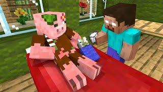 Monster School : Baby Zombie PigMan Life [ Two Mothers ] - Sad Minecraft Animation