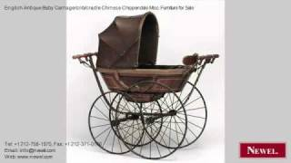 English Antique Baby Carriage/crib/cradle Chinese Chippendal