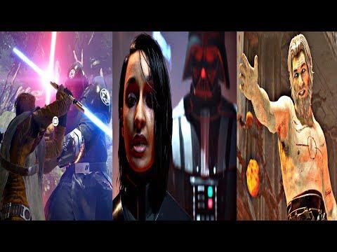 Star Wars Jedi Fallen Order - All Boss Fights (All Bosses) Star Wars 2019 PS4 Pro