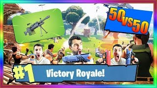 FORTNITE NOUVELLE MITRAILLEUSE LEGERE 100% TILTED TOWER 50 VS 50 FORTNITE  BATTLE ROYALE